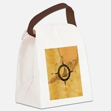 Key West Compass Rose Canvas Lunch Bag