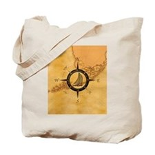 Key West Compass Rose Tote Bag
