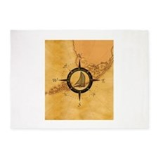 Key West Compass Rose 5'x7'Area Rug