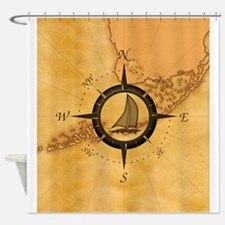 Key West Compass Rose Shower Curtain