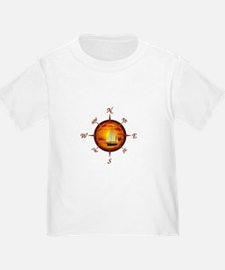 Compass Rose And Sunset T-Shirt