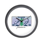 Oregon License Plate Wall Clock
