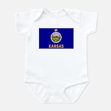 Kansas Flag Infant Bodysuit