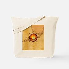 Florida Keys Map Compass Tote Bag