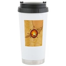Florida Keys Map Compass Travel Mug