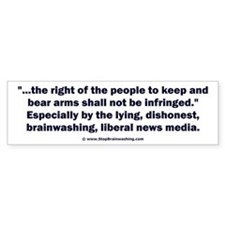 Right to bear arms Bumper Stickers