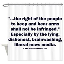 Right to bear arms Shower Curtain