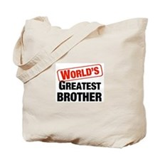 World's Greatest Brother Tote Bag