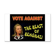 NO MORE HILLARY Rectangle Car Magnet