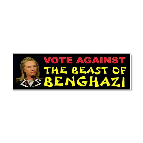 NO MORE HILLARY Car Magnet 10 x 3