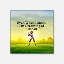 "TOP Softball Dreams Square Sticker 3"" x 3"""