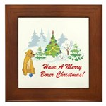 Christmas Boxer Framed Tile