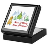 Christmas Boxer Keepsake Box