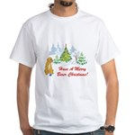 Christmas Boxer White T-Shirt