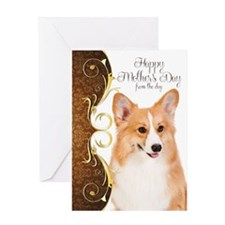 Corgi Mother,s Day Card