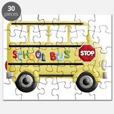 cute yellow school bus Puzzle