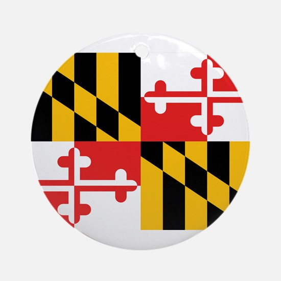 Maryland Flag Ornament (Round)
