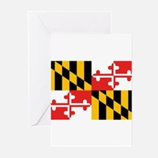 Maryland Flag Greeting Cards (Pk of 10)
