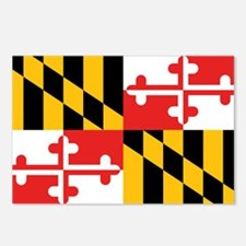 Maryland Flag Postcards (Package of 8)