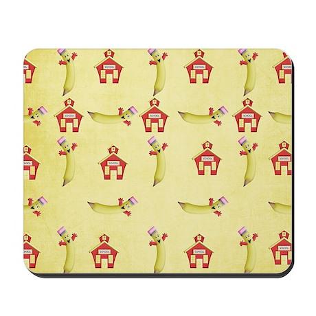 cute back to school pattern Mousepad