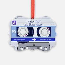 Cassette Tape - Blue Ornament