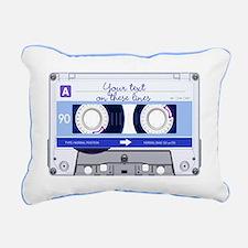 Cassette Tape - Blue Rectangular Canvas Pillow