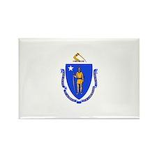 Massachusetts Flag Rectangle Magnet