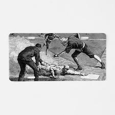 Vintage Sports Baseball Aluminum License Plate