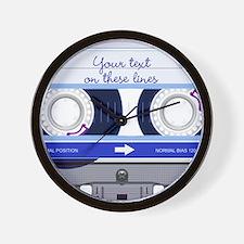 Cassette Tape - Blue Wall Clock