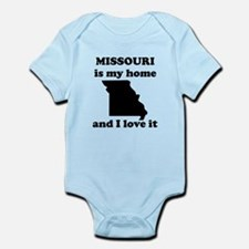 Missouri Is My Home And I Love It Body Suit