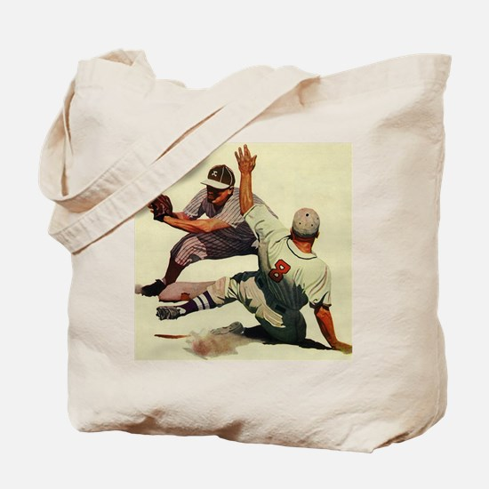 Vintage Sports Baseball Tote Bag