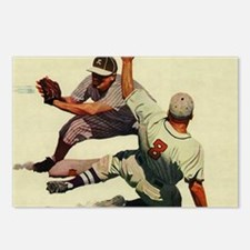 Vintage Sports Baseball Postcards (Package of 8)