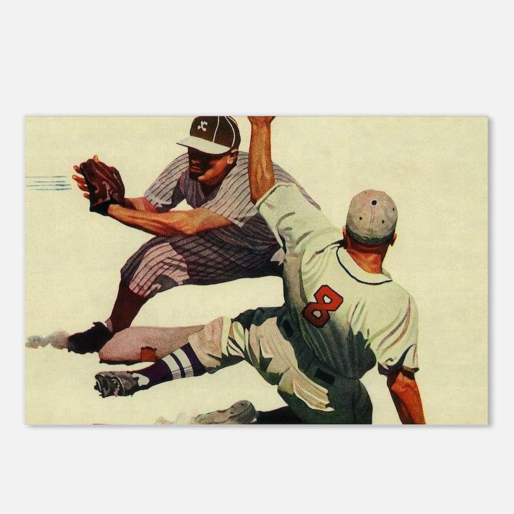 Vintage Sports Baseball Postcards (Package of 8)