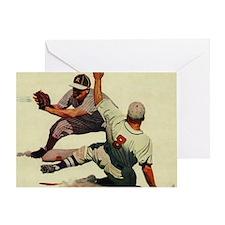 Vintage Sports Baseball Greeting Card