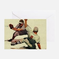 Vintage Sports Baseball Greeting Card