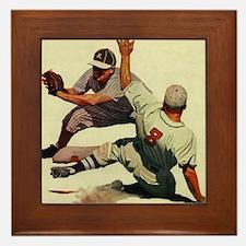 Vintage Sports Baseball Framed Tile