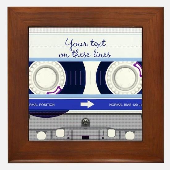 Cassette Tape - Blue Framed Tile