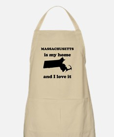 Massachusetts Is My Home And I Love It Apron