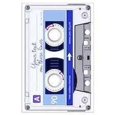 Cassette Tape - Blue Large Poster