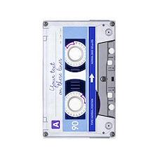 Cassette Tape - Blue 3'x5' Area Rug