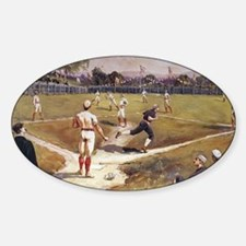 Vintage Sports Baseball Sticker (Oval)