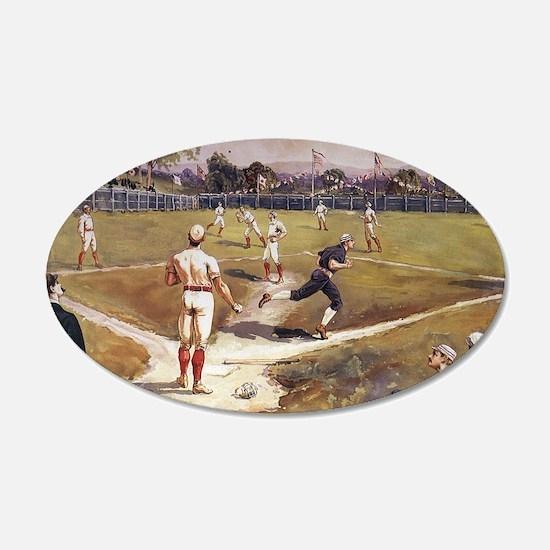 Vintage Sports Baseball Wall Decal