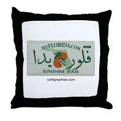 Florida License Plate Throw Pillow