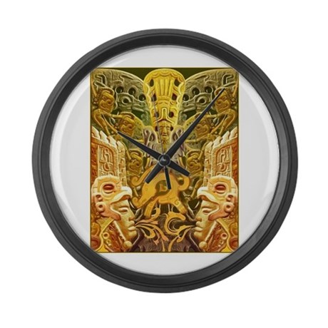 tribal gold large wall clock by castillo gifts