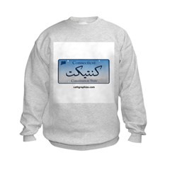 Connecticut License Plate Sweatshirt
