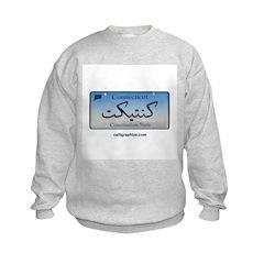 Connecticut License Plate Sweatshirt