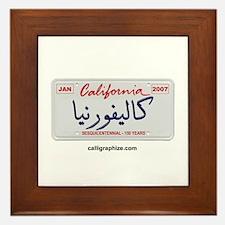 California License Plate Framed Tile