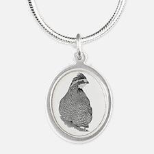 Bobwhite Quail Silver Oval Necklace