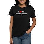 I Love: Wire Fox Terrier Women's Dark T-Shirt