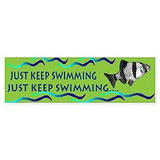 Just keep swimming bumpersticker Bumper Bumper Sticker